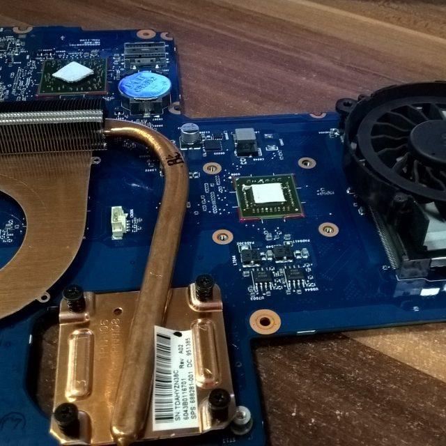 Чистка системы охлаждения ноутбука HP
